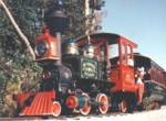Image of Fort Wilderness Train at train barn.