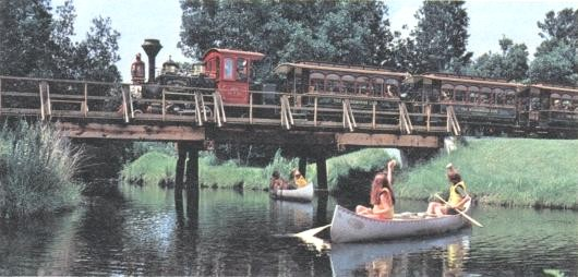 Image of Fort Wilderness Train on bridge