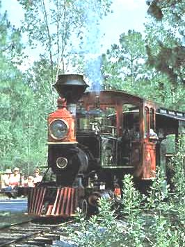 Image of Fort Wilderness train near loop 1100.